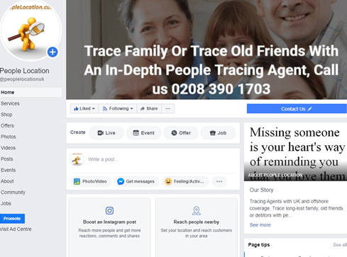 Tracing Agent facebook page